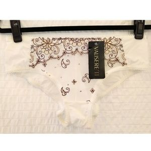 NWT Valisere II Embroidered Briefs